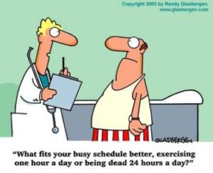 Què s''ajusta millor a la seua atapeïda agenda, una hora d'exercici al dia o estar mort les 24 hores?